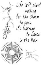 Dance in the Rain unmounted rubber stamp - SA6081