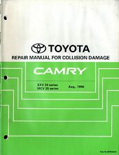 1996 TOYOTA CAMRY SXV20 UNFALLSCHADEN HANDBUCH COLLISION DAMAGE MANUAL BRM062E