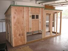 Chicken coop & storage, framing plan with material list, The Deluxe Coop DeVille