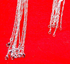 "10PCS 20"" Wholesale Jewelry 925 Silver Plated ""Water Wave Chain Necklace Pendant"