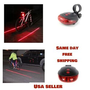 RIDE & RUN laser Bike Lane And Tail Light For Bicycle Cycling SAFETY LIGHT #9