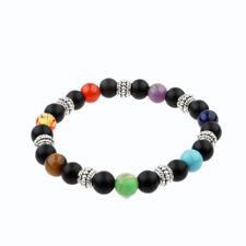 8mm Spiritual Healing 7 Chakra Bracelets Genuine Natural Stone Stretch Bracelets