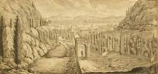 Old master etching; Italianate landscape; Jan Frans van Bloemen (Orizzonte) 1700