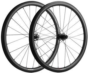 700C 38mm Gravel Carbon Wheelset 31mm Width Tubeless Disc Brake Carbon Wheels UD