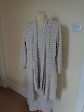FRANK LYMAN BEIGE AND WHITE DRESS AND JACKET