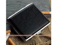 New Ultrathin Texture Black Portable Cigarette Case Fashion(Hold 18 Cigarettes)^