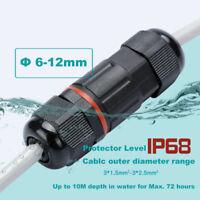 Extérieur étanche IP68 Câble Dia gamme connecteur 6-12mm-3 Pin Boîte De Jonction