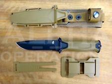 Gerber Strongarm Survival Knife Fixed Blade Fine Edge Multi Sheath Coyote Brown