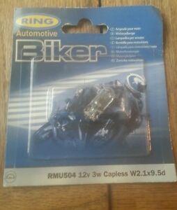 RMU504 Ring Motorcycle bulb 12V 3W Capless W2.1x9.5d