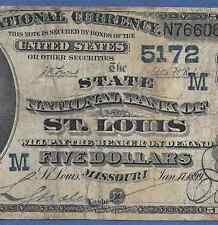 MO  1882 $5 DATE-BACK     ♚♚ ST. LOUIS,MO ♚♚