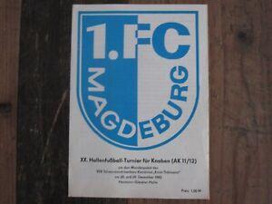 Prg 83 Junioren HT Magdeburg 1.FC Hallescher FC Dynamo Dresden Carl Zeiss Jena
