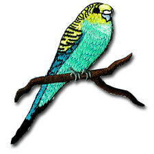 Budgie Budgerigar Parakeet Parrot Patch Embroidered Iron on Rockabilly Tattoo