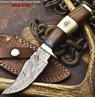 Cutlery Salvation Handmade Damascus Steel Blade Hunting Knife