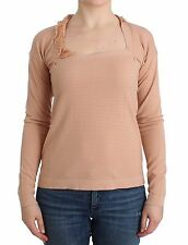 NWT Ermanno Scervino Orange Wool Blend Striped Long Sleeve Top IT44/US M