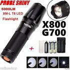 G700 X800 5000LM T6 LED Zoom Flashlight Tactical Torch Zoom Lamp Super Light New
