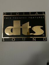 DTS Digital Sound Theater Sign (Plastic), Approx 12.5 X 18, Used