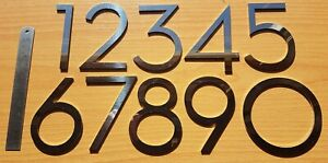 """4""""/10cm stick-on stylish house/door numbers mirror finish 3mm stainless steel"""