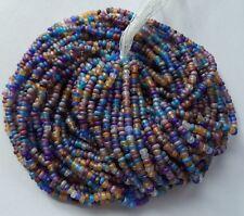 Matte AB Multi Mix Czech Glass Seed Beads 12 Strand Full Size Hank 10/0