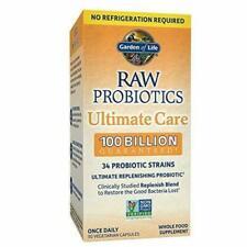 Garden of Life Raw Probiotics Ultimate Care 100 Billion 30 Veggie Capsules