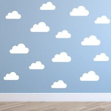 Set of Clouds Wall Stickers - Nursery Cloud Wall Decals - Childs Room Wall Decal