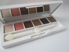 clinique eyeshadow full size 6 colors ivory morning java dusk black honey peach