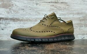 Cole Haan ZeroGrand No Stitch Oxford Shoes Sz 13 M Used Green Rubberized C12976