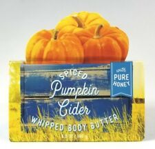 Bath Body Works SPICED PUMPKIN CIDER Whipped Body Butter with Pure Honey 6.5 oz
