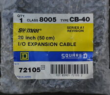 Square D 8005 CB-40 Sy/Max Symax I/O Expansion Cable Series A1 20 Inch 72105 New