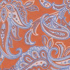Cravatta seta arancione A & D TIES Milano disegno cashmere | Orange Tie