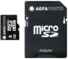 Flash Card AGFAPHOTO 8 GB Micro SDHC Karte + Adapter