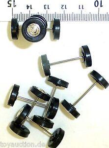 8 Piece Wheel Set Kässbohrer Rims Silver H0 1:87 Tuning Load Decor R322 Å