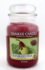 Yankee Candle Cranberry Pear 623 g/ 22 oz Large Jar Brand New