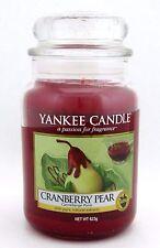 Yankee Candle Cranberry Pear 623 g/ 22 oz Large Jar Brand New (sku:17553)