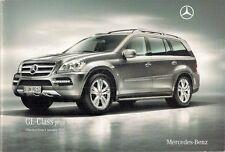 Mercedes-Benz GL Specification 2010 UK Market Brochure 350 450 CDi 500