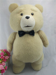 "18""/45cm TED The Teddy Bear Movie Black Bow-Tie Plush Doll Bear Soft Toy Gift us"
