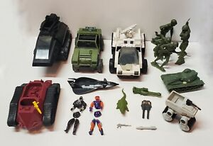 G.I. JOE LOT - vehicles, figures, accessories and army toys!