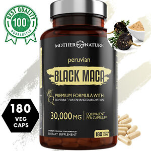 Organic Black Maca Extract, 30,000mg, 180 Capsules with Bioperine