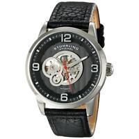 Stuhrling Legacy 648 Men's 43mm Automatic Black Calfskin krysterna Watch 648.02
