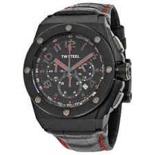 TW Steel CEO Tech Black Dial Black Leather Men's Watch CE4008