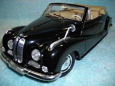 1/18 SCALE DIECAST 1955 BMW 502 V-8 CABRIOLET IN BLACK BY MAISTO NO BOX.