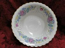 """Syracuse Lilac Rose, Multicolored Floral Rim: Round Vegetable Bowl,  8 3/4"""""""