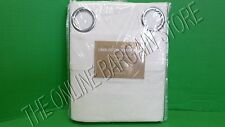 Pottery Barn West Elm Opaque Linen cotton GRMT Drapes Panels Curtains 48x108 WHT