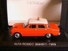 ALFA ROMEO 1300 GIULIA TI 1969 SOCCORSO STRADALE NOREV 790303 1/43 LEFT HAND LHD