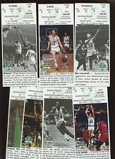 1995 NBA Basketball Boston Celtics Ticket Stubs 8 Different VG/EX+