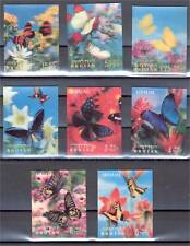 BHUTAN, BUTTERFLIES, FULL SET 3-D STAMPS 1968, NH