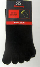 2 Paar Herren Zehensocken Funktionssocken Hygienesocken schwarz Größen 36 bis 46