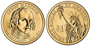 2007-P  JAMES MADISON  PRESIDENTIAL COIN