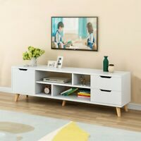 Simple Modern Coffee Table TV Cabinet Living Room Floor Cabinet W/ Three Cabinet
