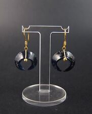 Superb ancient Ban Chiang glass earrings in modern setting