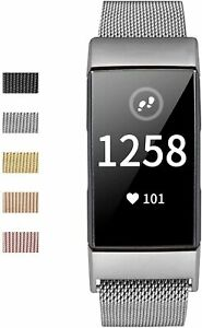 Fitbit Charge 4/3 Strap Replacement Magnet Milanese Band Metal Stainless Steel